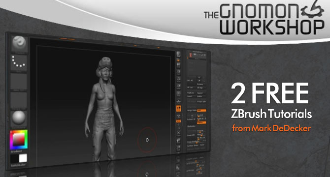 110909 gnomonworkshop Two New Free ZBrush Courses From Gnomon