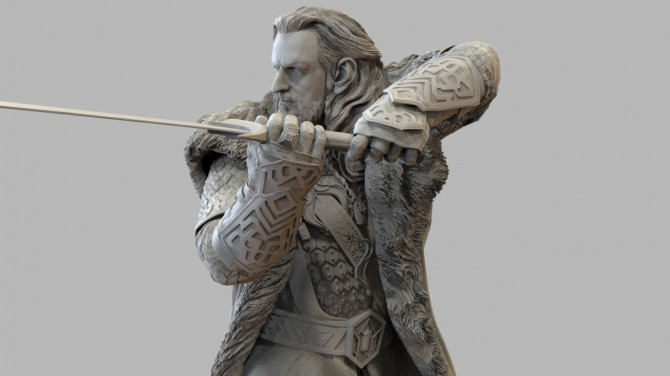 Thorin from The Hobbit for Weta by Scott Spencer