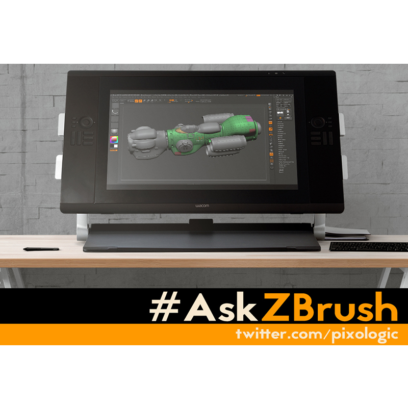 Pixologic is pleased to bring you the #AskZBrush system — an exciting new way to get answers to your feature questions!