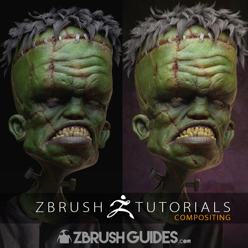 Compositing ZBrush BPR Passes In Photoshop