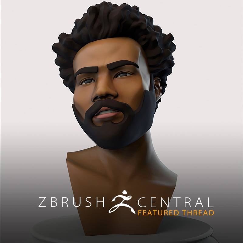 Childish Gambino AR Playmoji Concept was Born in ZBrush