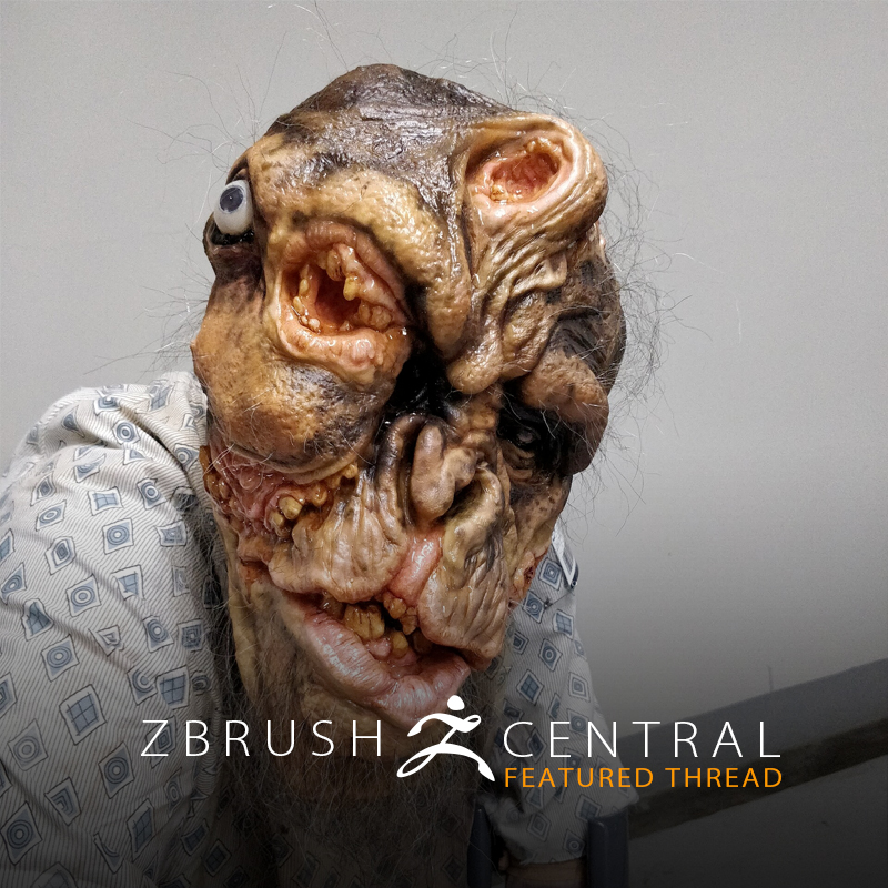 See How a ZBrush Sculpt Became a Gruesome Mask for Monsterpalooza