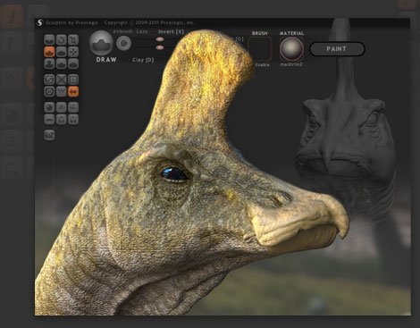 a dinosaur that was modelled using Sculptris