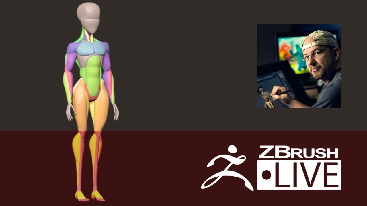 Shane Olson Stylized Anatomy Episode 2 Pixologic Zbrushlive