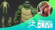 Teenage Mutant Ninja Turtle Fan Art Block Out- Timothy Rapp ZBrushLIVE Episode 47