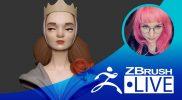 [RU] Alina Ivanchenko – Создание стилизованного персонажа в ZBrush с нуля – Episode 5