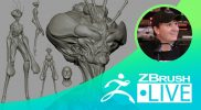 "Creature Sculpting & Exploration of Forms – Brett Briley ""Spark"" – Episode 14"