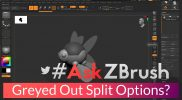 "#AskZBrush – ""Why are the split options greyed out with my model?"""