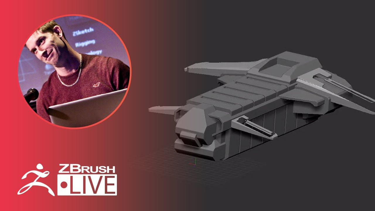 ZBrush 2020 – Aircraft Hard Surface 3D Modeling Tips – Pixologic Paul Gaboury – Part 3