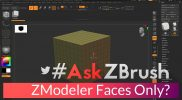 "#AskZBrush – ""Is there a way to setup a ZModeler brush so that it only affects faces?"""