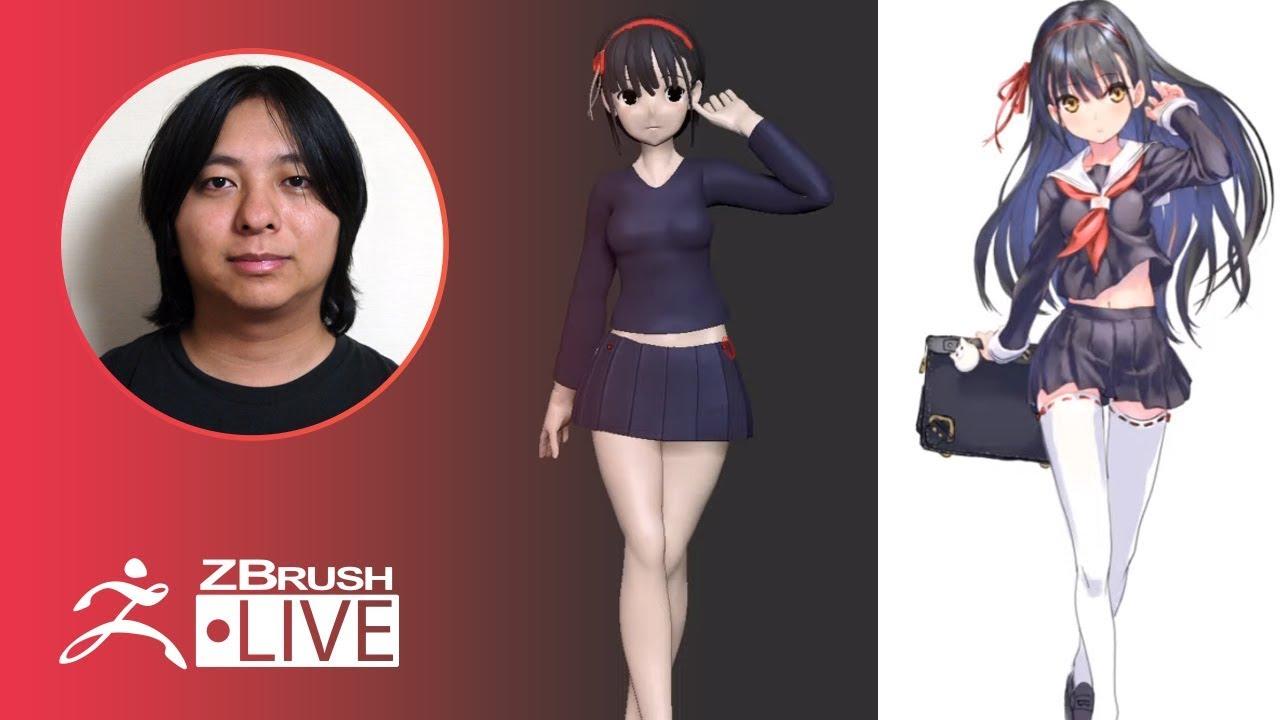 [日本語] イラストからのデジタル原型制作 協力:Raika9様 – Pixologic 成川 – ZBrush 2020 – Part 11