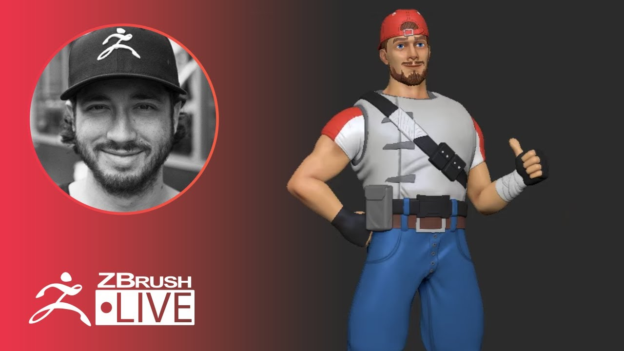 ZBrushCore: 3D Modeling Fortnite Fan Art – Pixologic Solomon Blair – Part 3