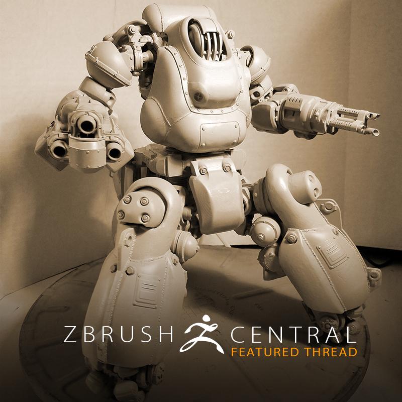 Pixologic: ZBrush Blog » Fallout 4 Artist Brings Sentry Bot to Life