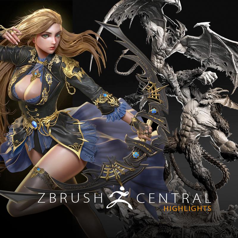 Epic Workout Monster Highlights: Pixologic: ZBrush Blog » ZBrushCentral Highlights