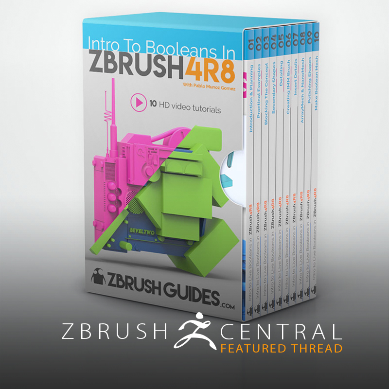 Intro to Booleans from ZBrushGuides