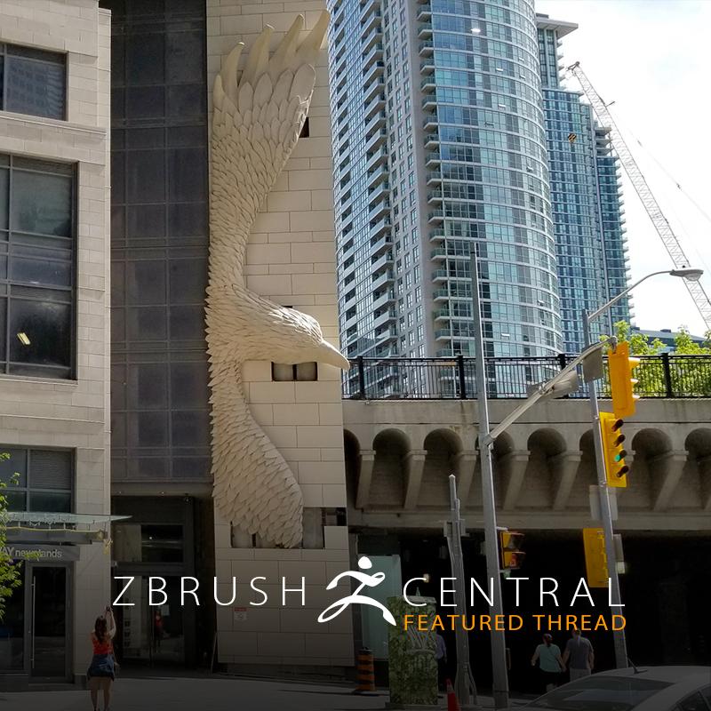 ZBrusher Creates Massive Eagle Sculpture in Toronto