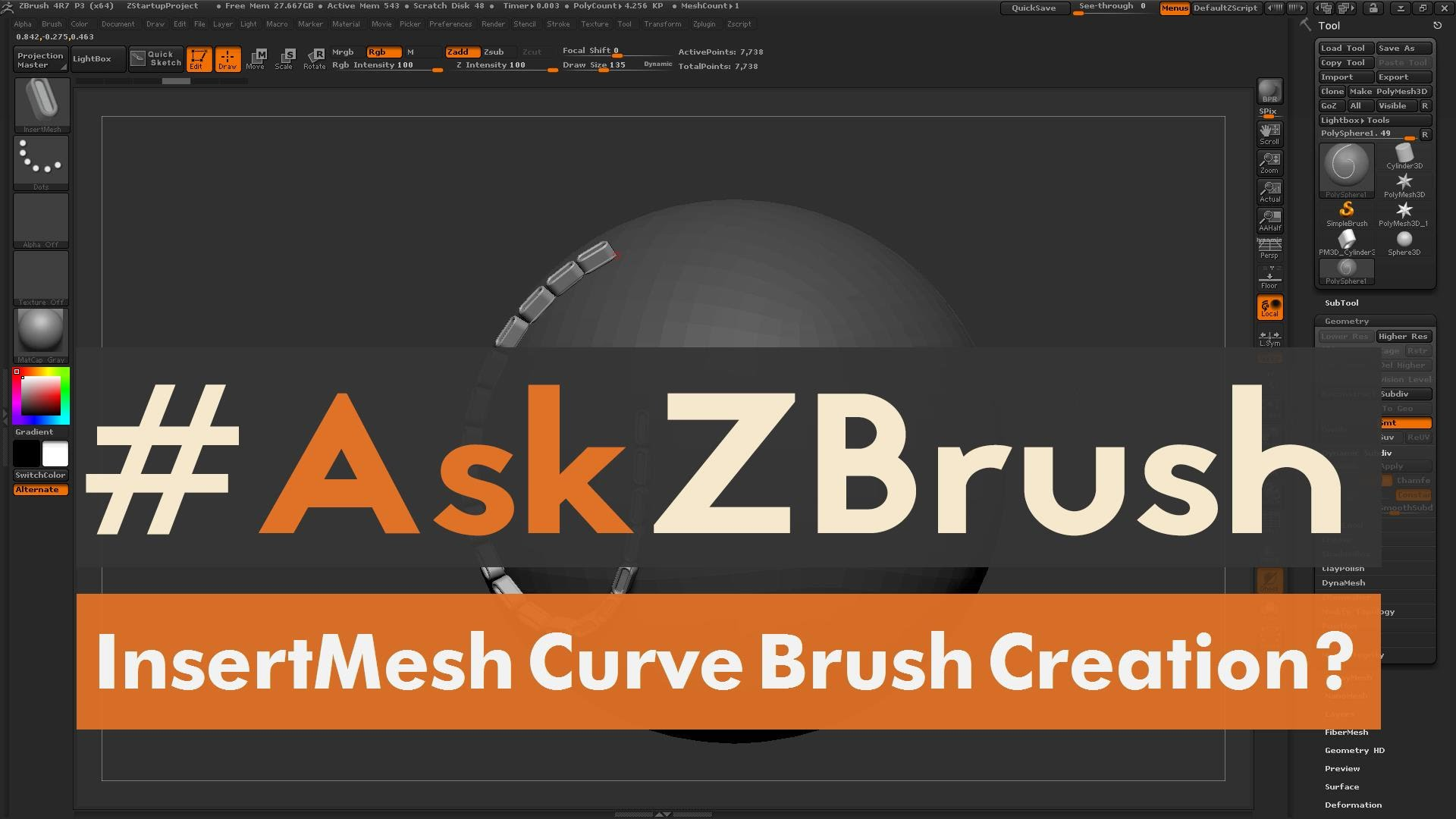 "#AskZBrush: ""How can I create an Insert Mesh Curve Brush?"""