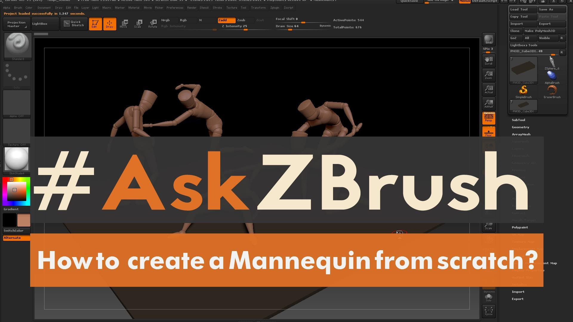 "AskZBrush – ""How do I create mannequins from scratch"