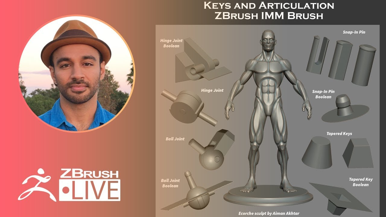 3D Printing in ZBrush: Keys & Articulation – Aiman Akhtar