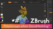 "#AskZBrush: ""How can I preserve PolyGroups when DynaMeshing?"""