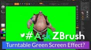 "#AskZBrush – ""Is there a way to make a turntable movie with a green-screen background?"""