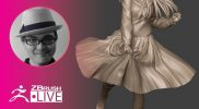 ZBrush 2020 – 3Dプリント用キャラクターの作り方 – 3D Model Skirt – Sakaki Kaoru