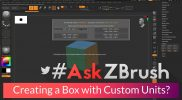 "#AskZBrush: ""How can I create a box with custom units? For example 50 x 79 x 30 mm?"""