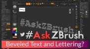"#AskZBrush: ""How can I make beveled text and lettering?"""