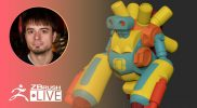 ZClassroom LIVE: Modeling Basics – Creating an IMM Robot – Pixologic Joseph Drust – ZBrush 2020