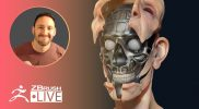 How to 3D Model the Westworld Main Title Host Robot – Michael Pavlovich – ZBrush 2020