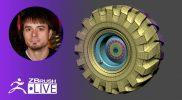 ZBrush 2020 – Modeling Basics: Tire with ZModeler – Pixologic Joseph Drust – ZClassroom LIVE