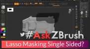 """#AskZBrush: """"Is there a way to mask with the Lasso on only a single side of your model?"""""""