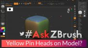 "#AskZBrush – ""When I turn on Polyframes my mesh displays these yellow pin heads?"""
