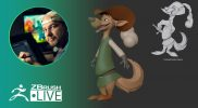 3D Model a Disney Style Canine Character in ZBrush #withme ! – Shane Olson – Part 3
