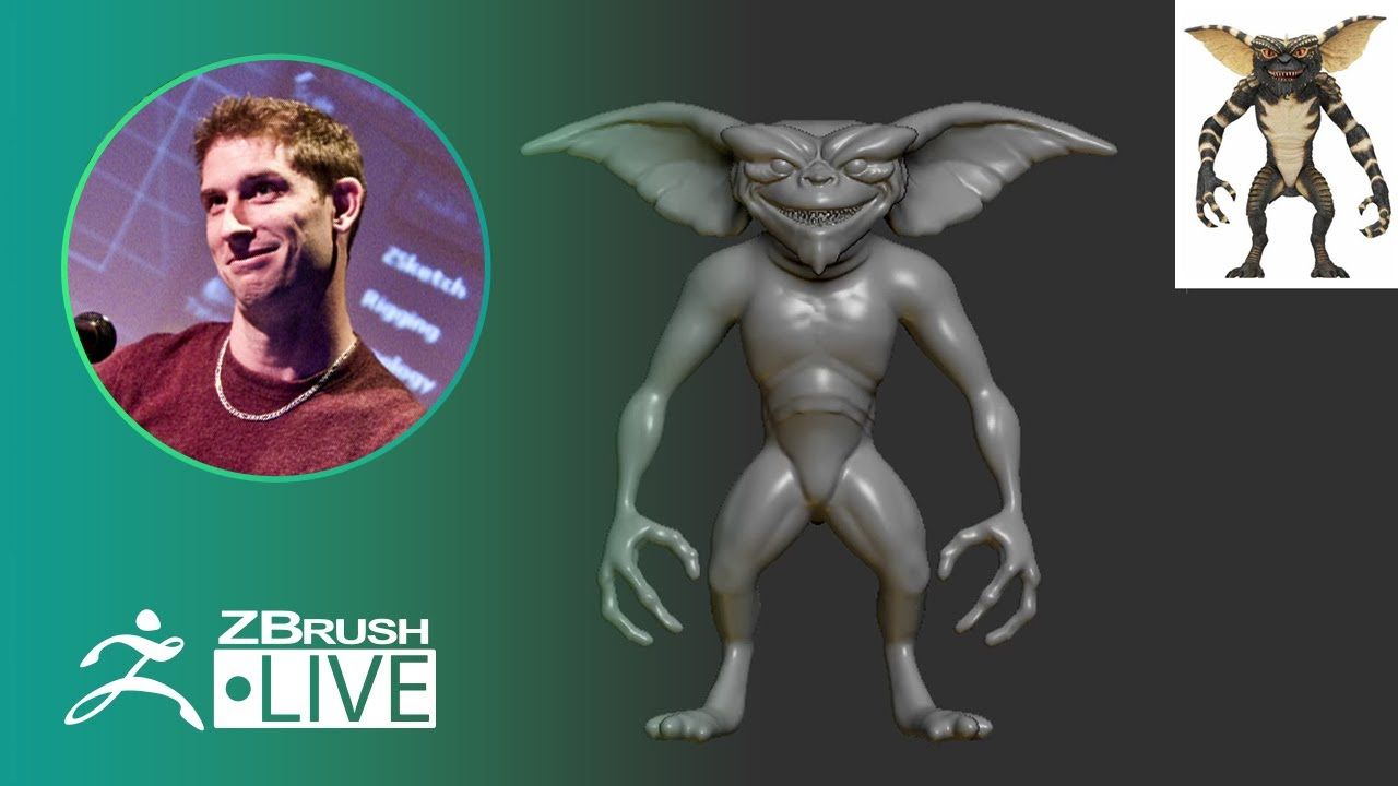 ZBrush 2020 – 80's Gremlin – Pixologic Paul Gaboury – Did You Know That? LIVE – Part 3