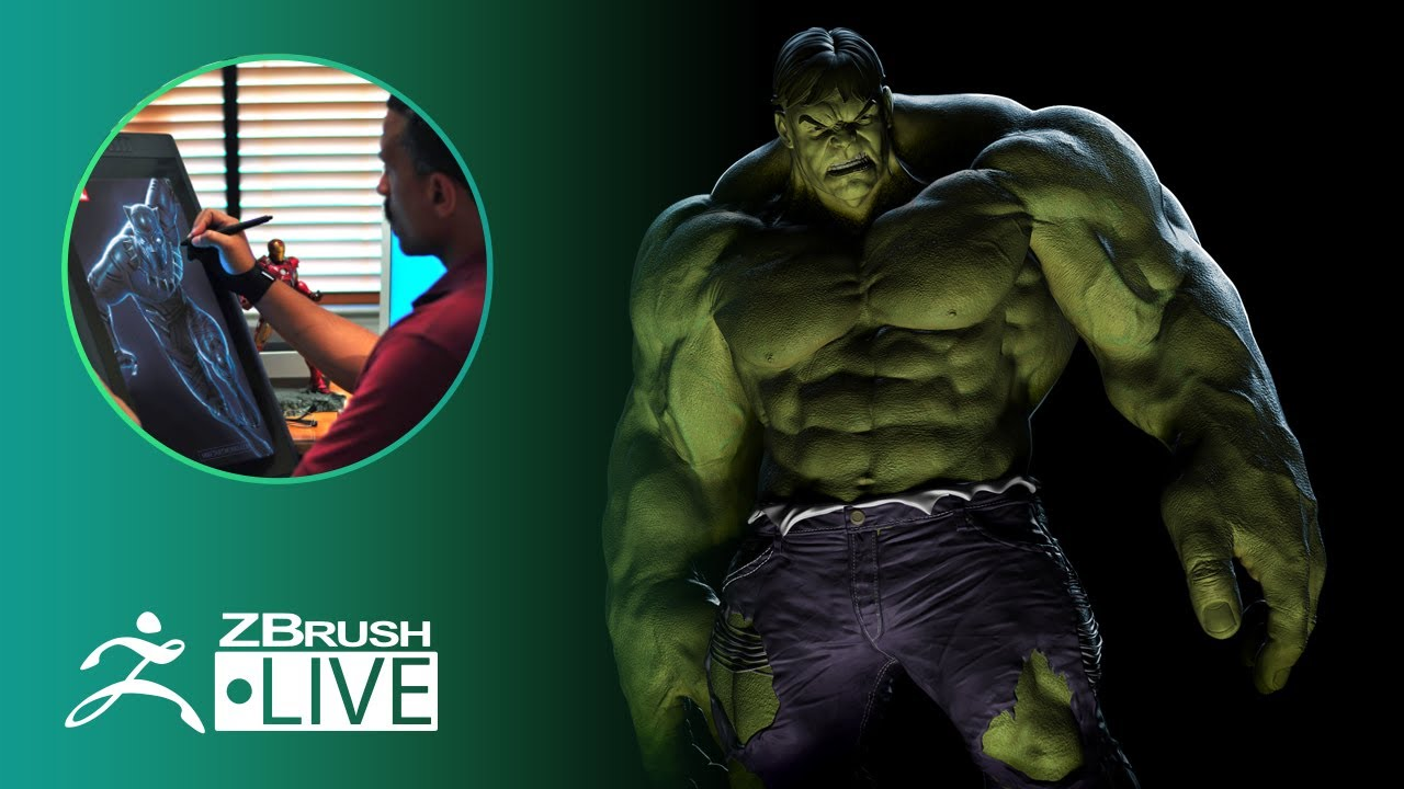 ZBrush for 3D Printing The Incredible Hulk – Mike Thompson – Part 5