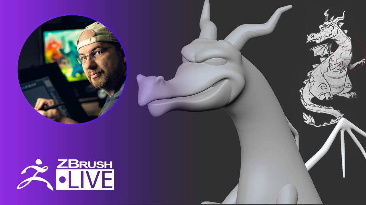 3D Model a Stylized Dragon #withme ! – Shane Olson – ZBrush 2020 – Part 2
