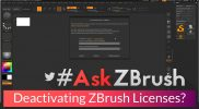 "#AskZBrush – ""How can I deactivate my ZBrush license on one computer so I can use it on another?"""