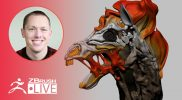 3D Model a  Skeletal Horse with No Spare Time – SMAARTIST – Stephen Anderson – ZBrush 2020