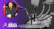 (Part 8) Block Out a Skeletal Throne in ZBrush #withme ! – Brendon Isaiah Bengtson