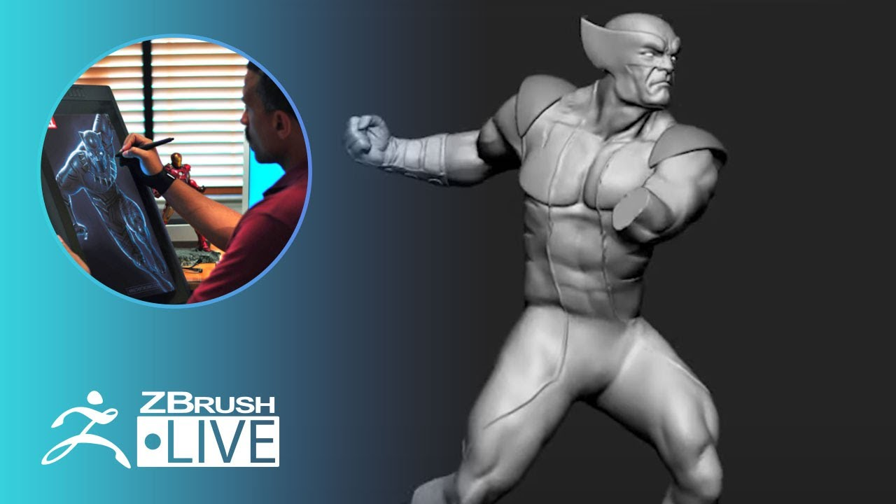 Mike T Artworks: 3D Model X Men Wolverine #withme ! – Mike Thompson – Part 1