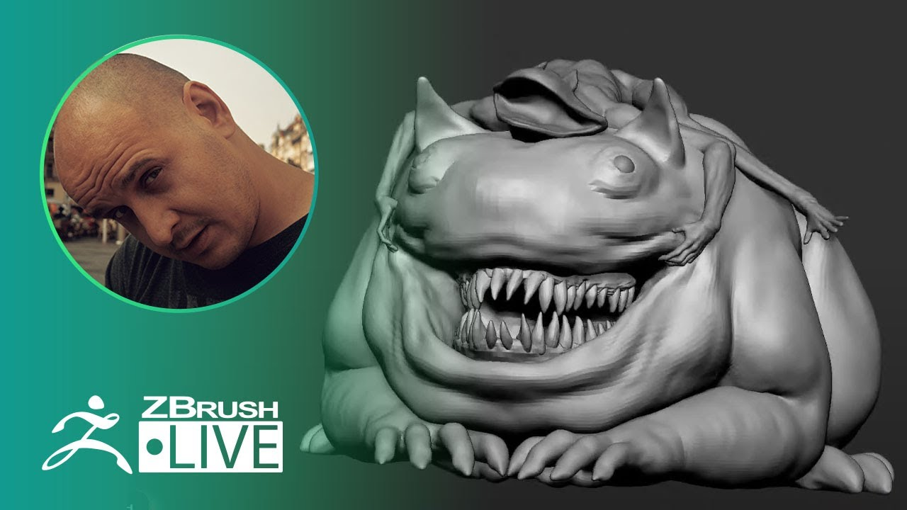 [UA & EN] Concepting a 3D Toad-like Creature in ZBrush – Sadan Vague – Part 3