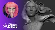 [EN & RU] How to Sculpt Without Concept and Survive – Alina Ivanchenko – ZBrush