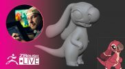 3D Model a Lilo & Stitch Character #withme ! – Shane Olson – Part 2