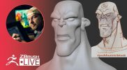 3D Sculpt a Character from an Illustration #withme ! – Shane Olson – ZBrush 2021