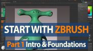 How to Start with ZBrush – Project Setup & Sculpting Brushes – Part 1
