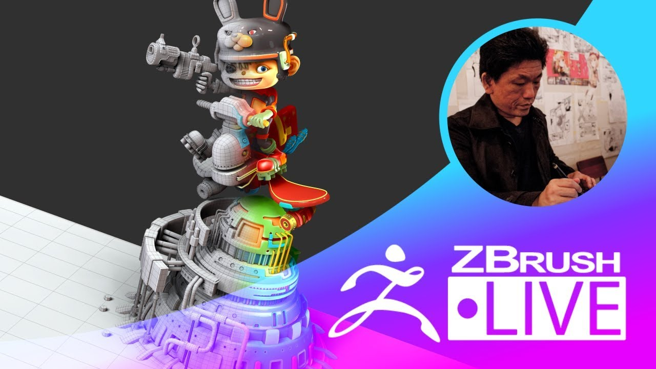 Fukui Nobuaki – ZBrush 超入門講座 出張LIVE – Episode 8 ZBrushCoreからZBrushへのアップグレード!キャラクターモデリング編