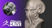 Create a Davy Jones Octopus Mask in ZBrush #withme ! – Miguel Guerrero – ZBrush 2021