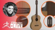 ZBrush Guides: 3D Model a Guitar #withme ! – Pablo Muñoz Gómez – Part 2
