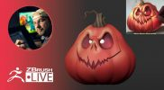 Create a Stylized Jack-O'-Lantern in 3D #withme – Shane Olson – ZBrush 2021